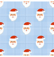 seamless new years pattern with santa vector image vector image
