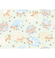 seamless pattern of cute sheep vector image vector image