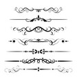 set decorative delimiters vector image vector image