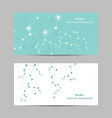 set horizontal banners geometric pattern with vector image vector image