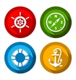 Set of travel flat color buttons vector image vector image