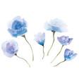set watercolor flowers vector image vector image