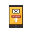 smartphone device mail email text vector image vector image