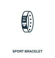 sport bracelet icon mobile app printing web vector image