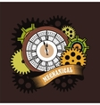 Steampunk mechanism vector image vector image