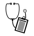stethoscope medical card icon simple style vector image