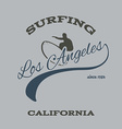 surfing typography t-shirt graphics vector image vector image