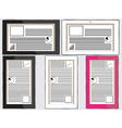 Tablets with status panels vector image vector image