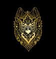 tribal ethnic wolf vector image