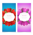 Tulip flowers frame composition vector image vector image