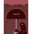 umbrella man vector image