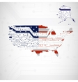 USA Map circuit board background vector image vector image