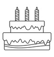 vanilla cake icon outline style vector image