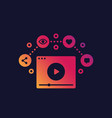 video streaming vlog and video content vector image
