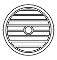 viking shield icon black color flat style image vector image vector image