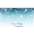winter blurred banner with snowflakes merry vector image
