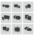 black speech bubble icons set vector image