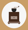 A brown old coffee mill vector image