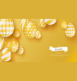 abstract banner with three-dimensional easter eggs vector image
