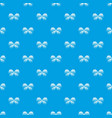 abstract butterfly pattern seamless blue vector image vector image