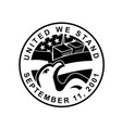 american eagle and wtc building 911 commemoration vector image