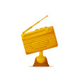 award for best radio station silver and gold vector image vector image