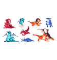 baby dragon cartoon fairytale animals fictional vector image