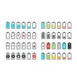 battery icons phone charge level ui design vector image vector image