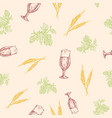 beer seamless background pattern hand vector image vector image