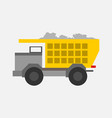 big yellow transport truck mining graphic vector image vector image