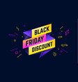 black friday discount 3d sale banner with text vector image