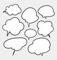 blank white speech bubbles thinking balloon vector image vector image