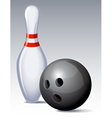 bowling pin vector image vector image