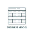 business model line icon business model vector image vector image