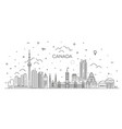 canada architecture line skyline vector image vector image