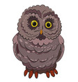 cartoon image of owl vector image