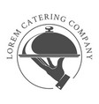 catering logo emblem vector image vector image