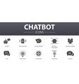 chatbot simple concept icons set contains such vector image