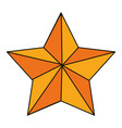 christmas star symbol vector image
