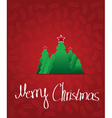 christmas tree with star - greeting card vector image vector image