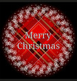 christmas wreath with fir branches and cones on vector image vector image