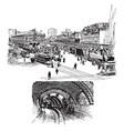 city transportation vintage vector image vector image