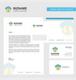 cloud dollar business letterhead envelope and vector image vector image