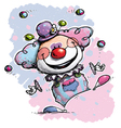 Clown Juggling Baby Colors vector image vector image