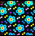 colorful abstract beautiful flowers on a black vector image