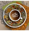 Cup of coffee and Tea time doodles vector image vector image