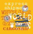 cute sea dog captain cargo boat shipment vector image