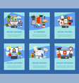 distance education set cards banners online vector image vector image