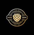 elegant luxury golden vintage retro hop hops craft vector image vector image