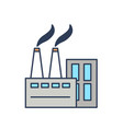 factory building modern urban architecture vector image vector image